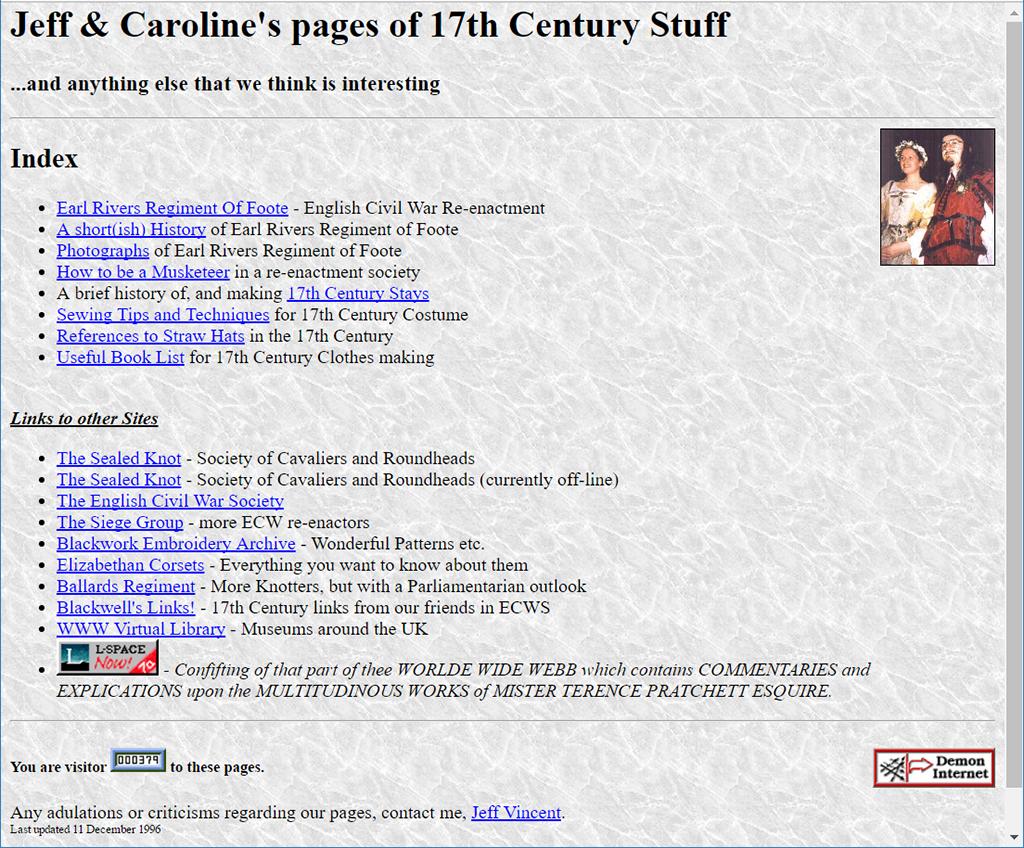 Our web page Dec 1996